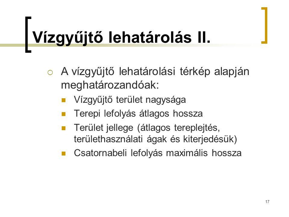 Vízgyűjtő lehatárolás II.