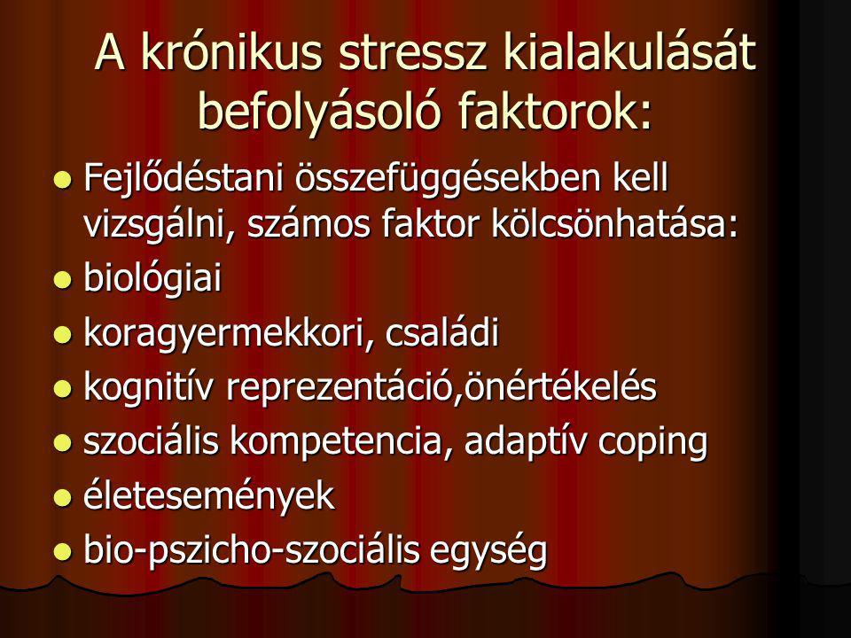 A krónikus stressz kialakulását befolyásoló faktorok:
