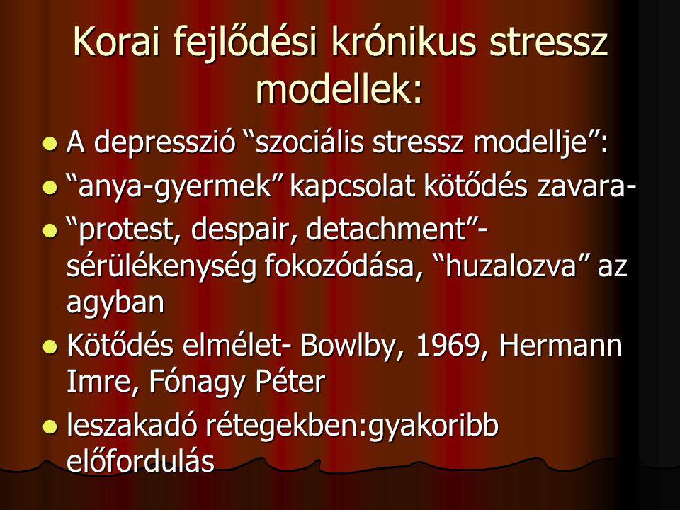 Korai fejlődési krónikus stressz modellek: