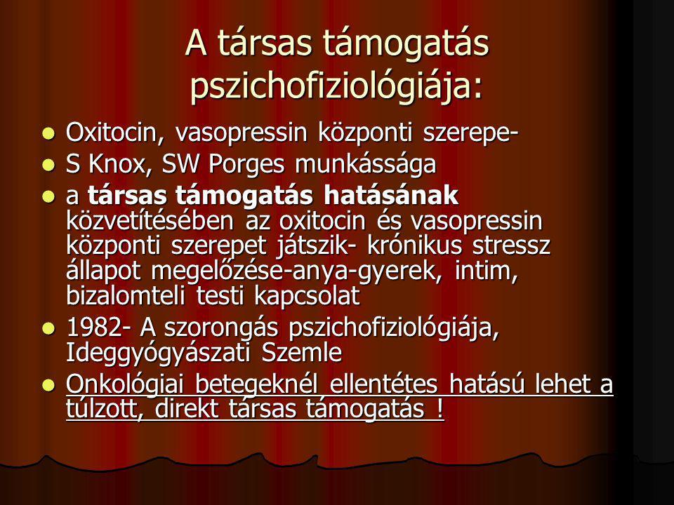 A társas támogatás pszichofiziológiája:
