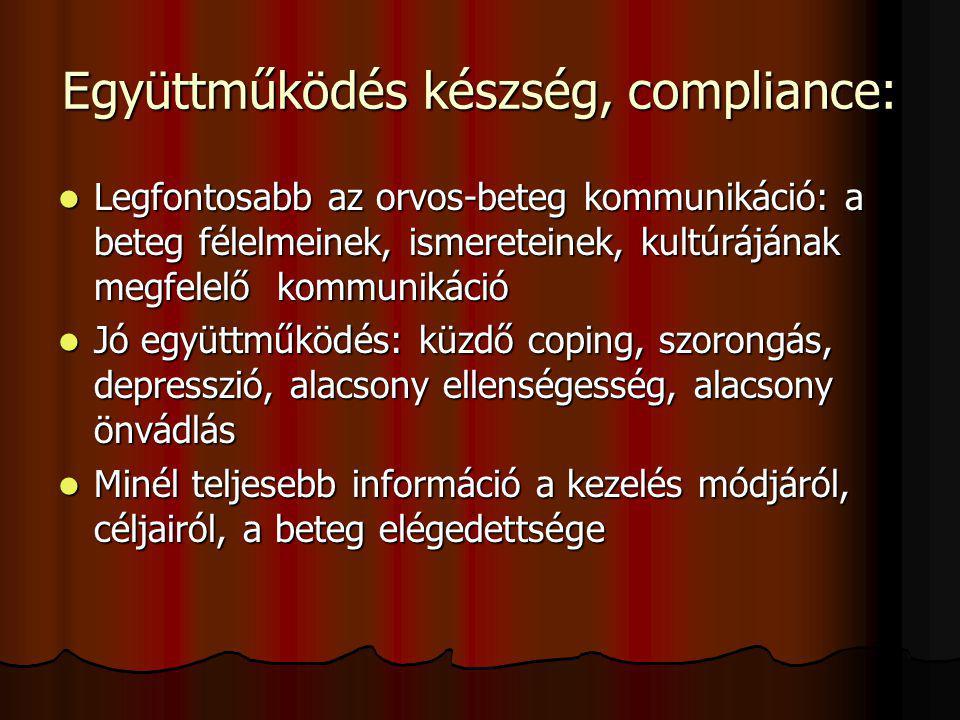 Együttműködés készség, compliance: