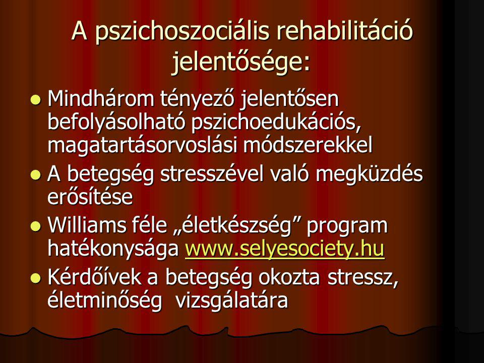 A pszichoszociális rehabilitáció jelentősége: