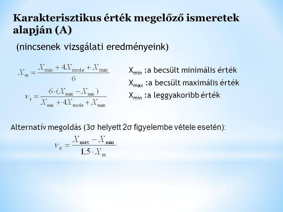 Karakterisztikus érték megelőző ismeretek alapján (A)