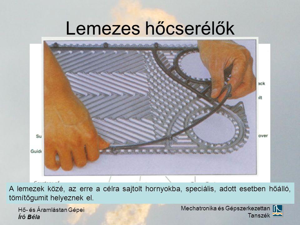 Lemezes hőcserélők A lemezek közé, az erre a célra sajtolt hornyokba, speciális, adott esetben hőálló, tömítőgumit helyeznek el.