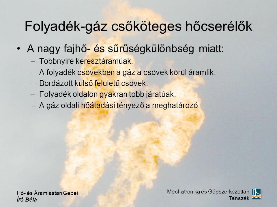 Folyadék-gáz csőköteges hőcserélők