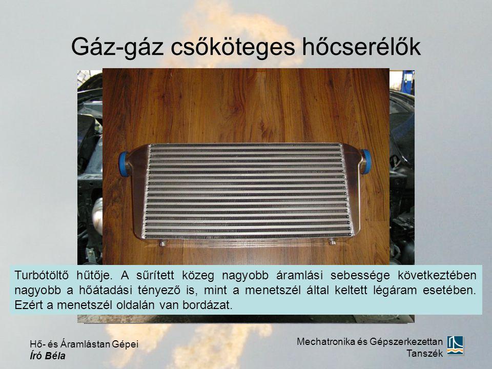 Gáz-gáz csőköteges hőcserélők