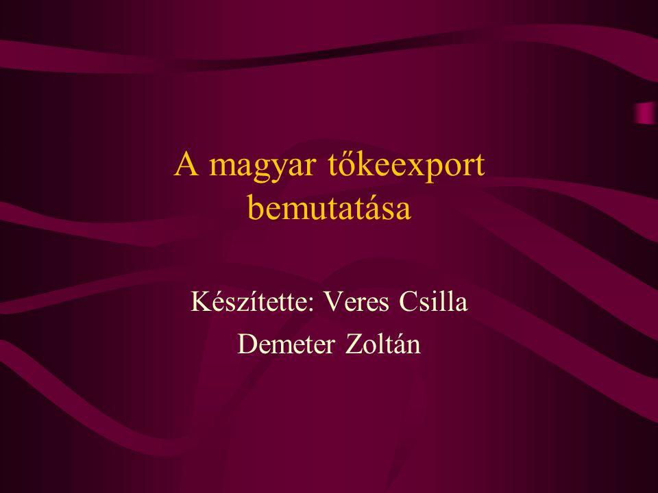 A magyar tőkeexport bemutatása