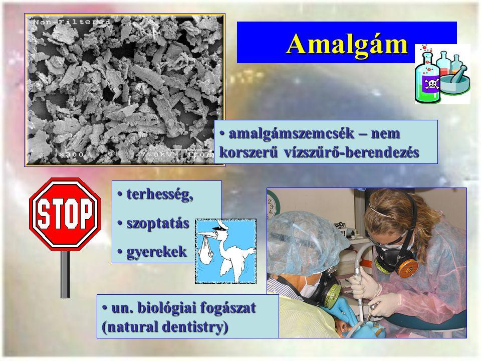Amalgám amalgámszemcsék – nem korszerű vízszűrő-berendezés terhesség,