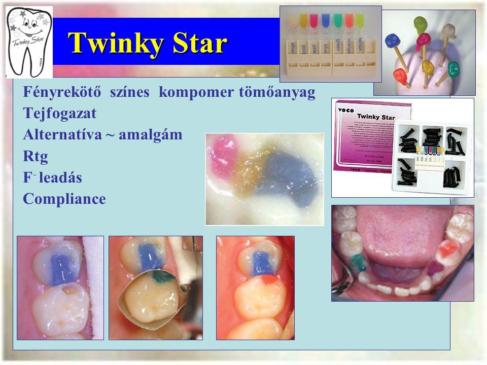 Twinky Star Fényrekötő színes kompomer tömőanyag Tejfogazat