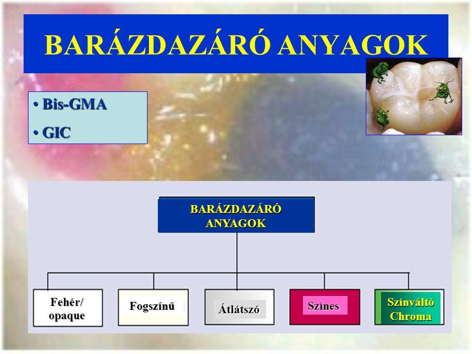 BARÁZDAZÁRÓ ANYAGOK Bis-GMA GIC BARÁZDAZÁRÓ ANYAGOK Fehér/ opaque