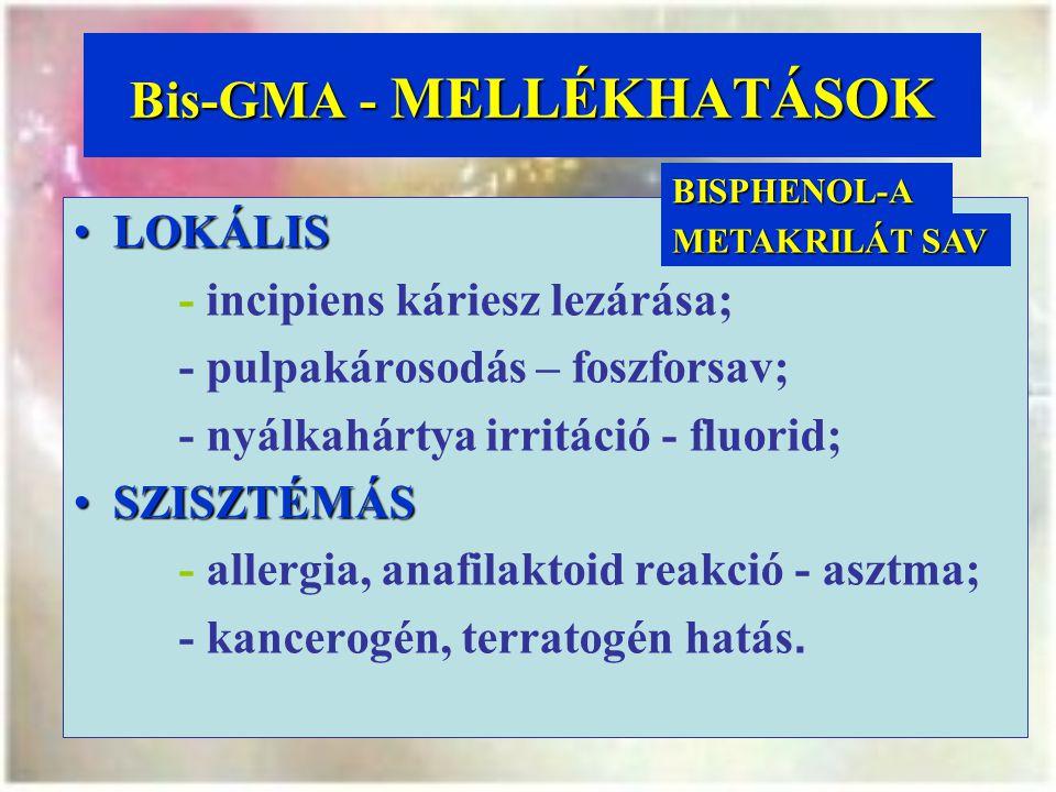 Bis-GMA - MELLÉKHATÁSOK
