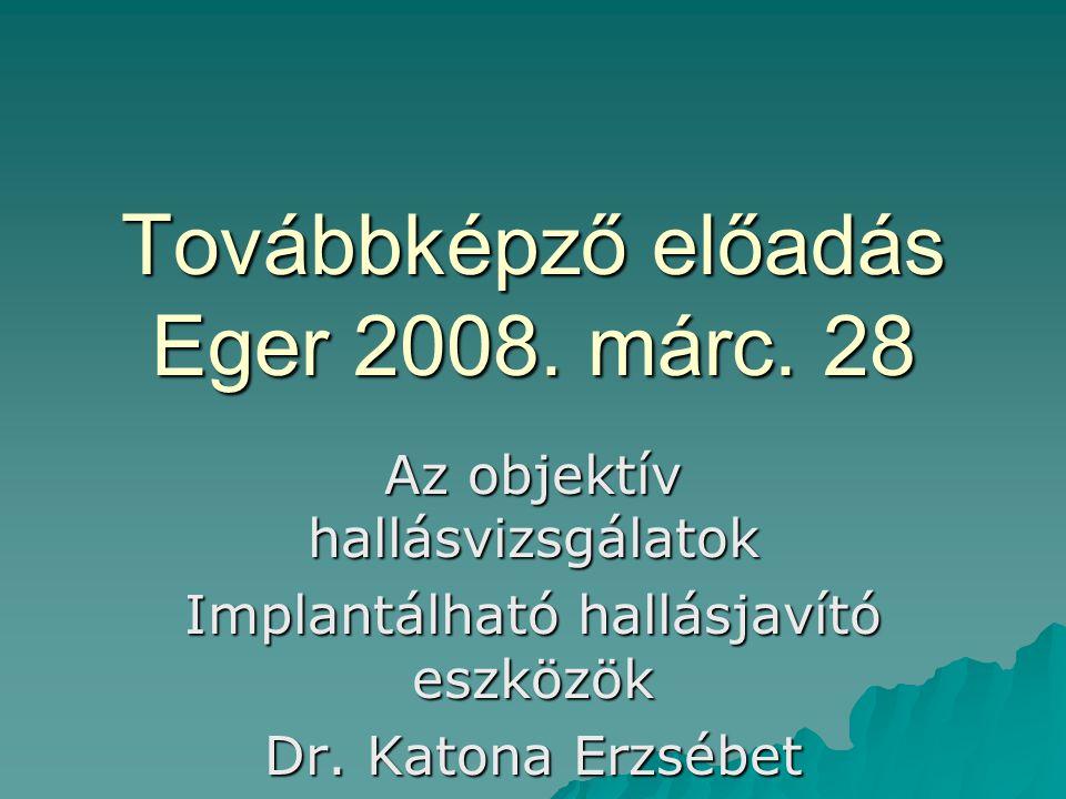 Továbbképző előadás Eger 2008. márc. 28