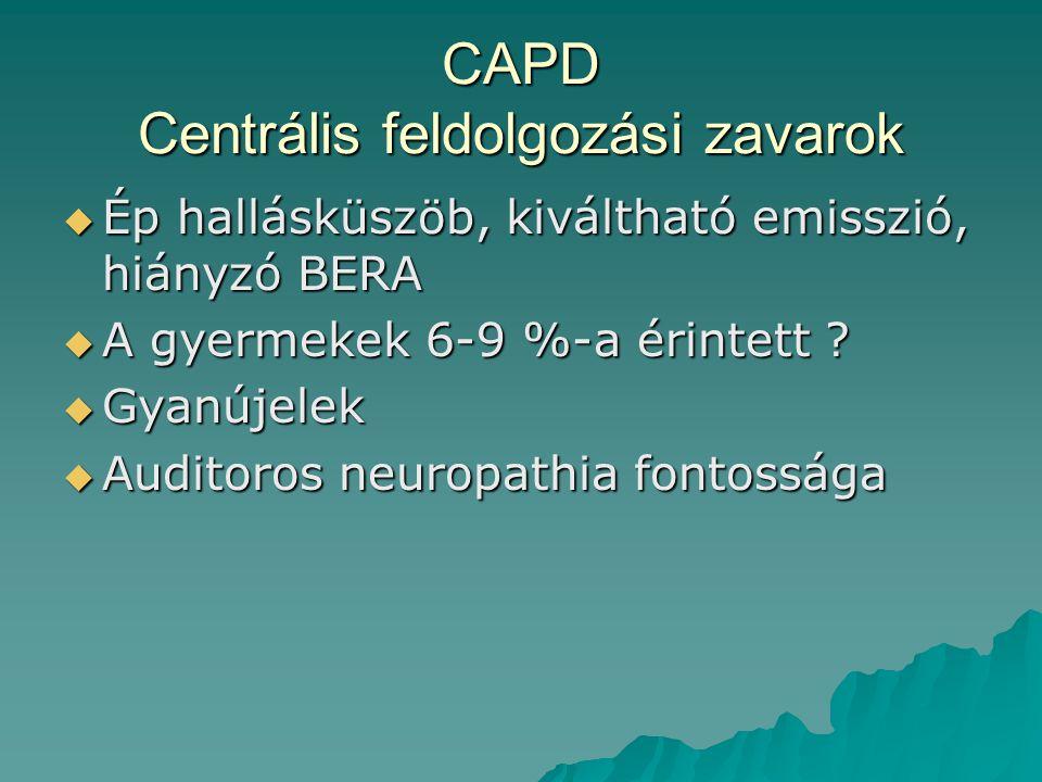 CAPD Centrális feldolgozási zavarok