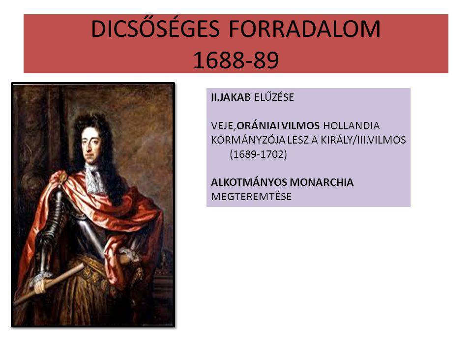 DICSŐSÉGES FORRADALOM 1688-89