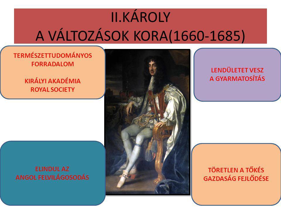 II.KÁROLY A VÁLTOZÁSOK KORA(1660-1685)