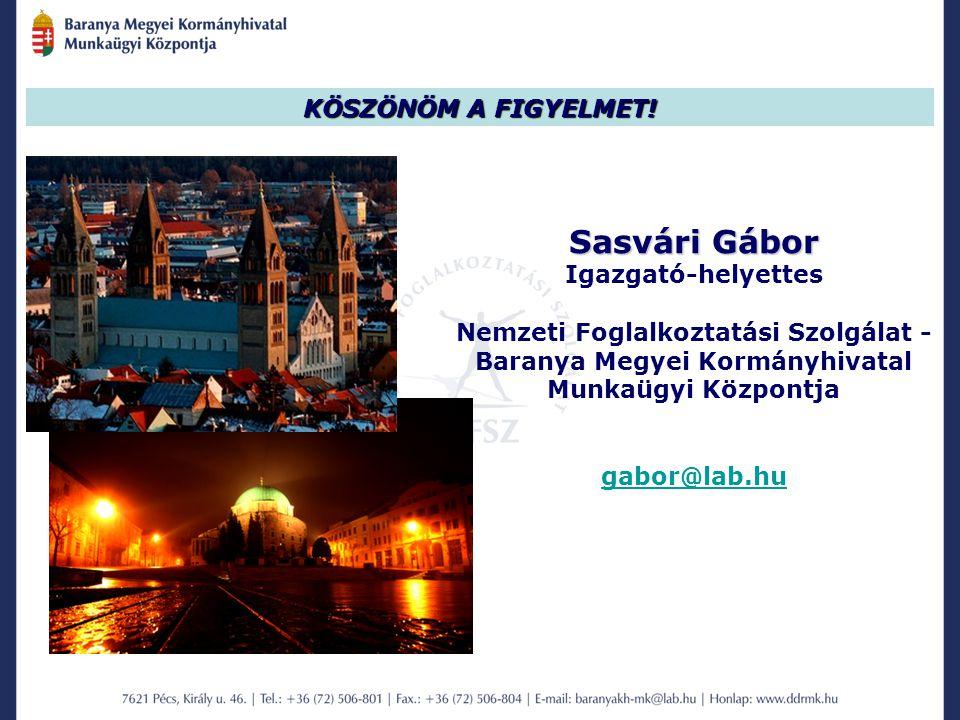 Sasvári Gábor KÖSZÖNÖM A FIGYELMET! Igazgató-helyettes