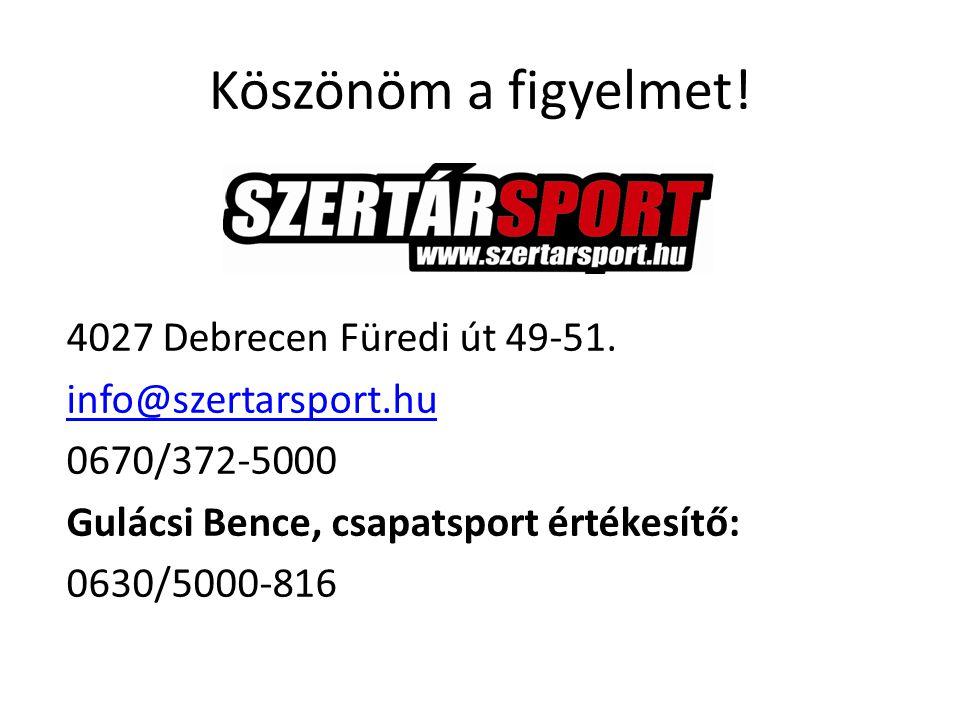 Köszönöm a figyelmet. 4027 Debrecen Füredi út 49-51.
