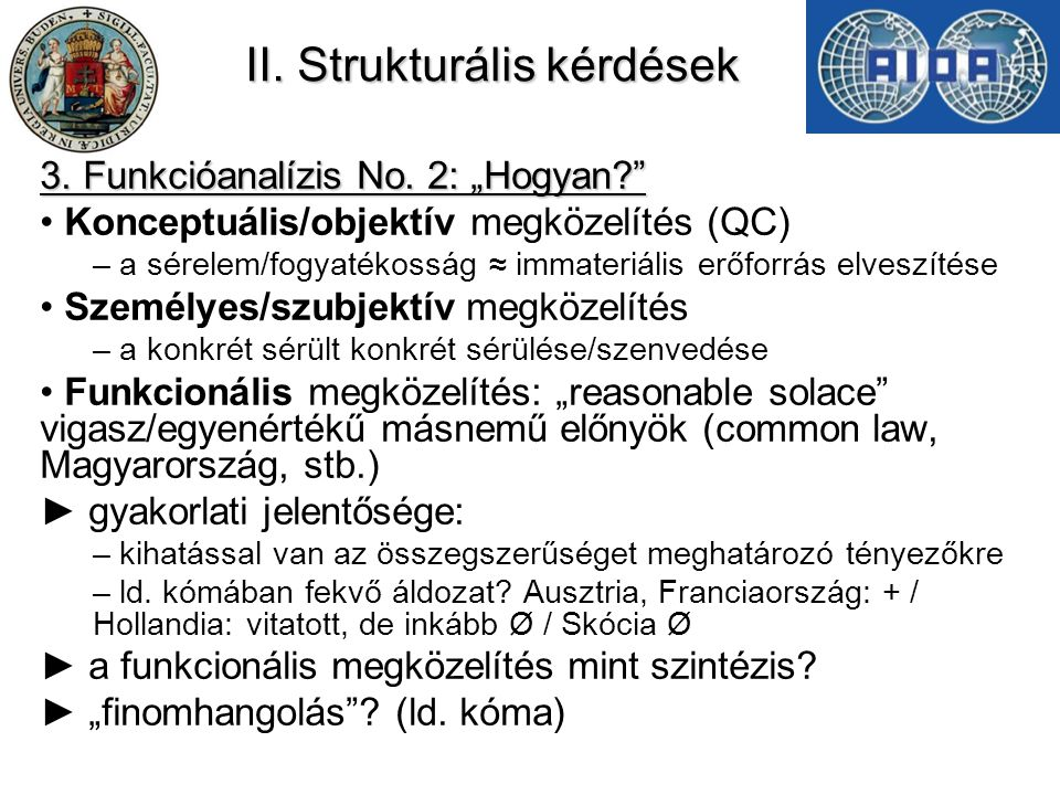 II. Strukturális kérdések