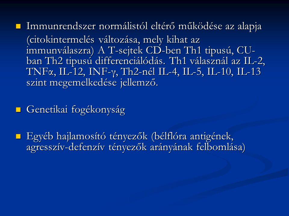 Immunrendszer normálistól eltérő működése az alapja