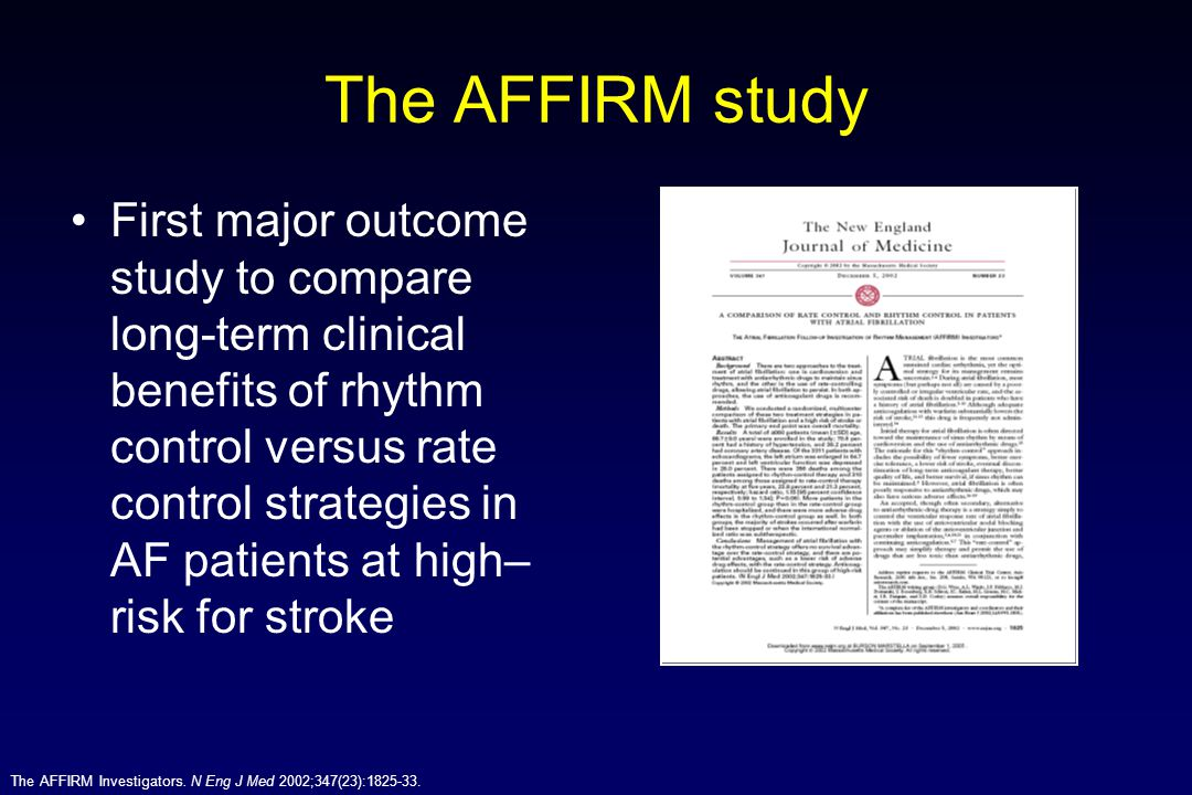 The AFFIRM study