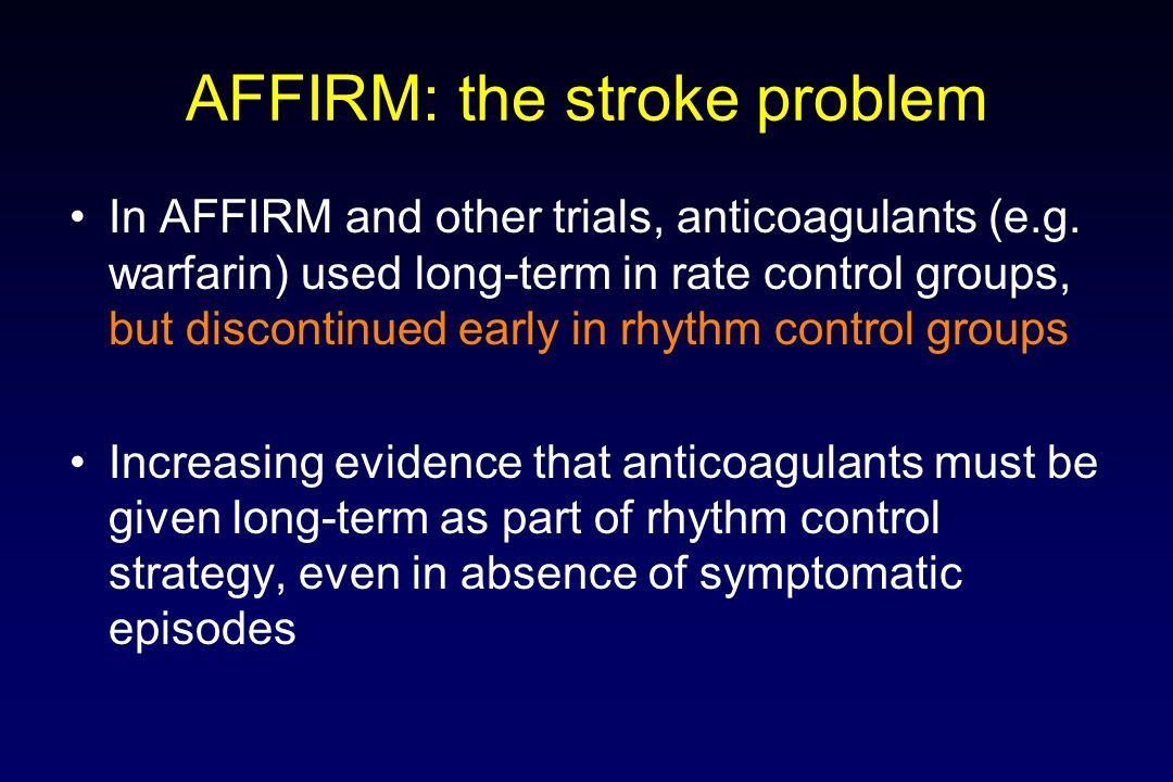 AFFIRM: the stroke problem
