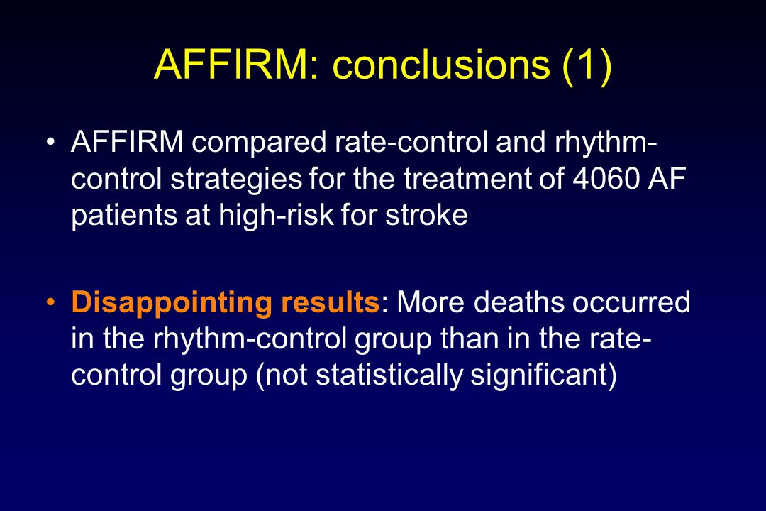 AFFIRM: conclusions (1)
