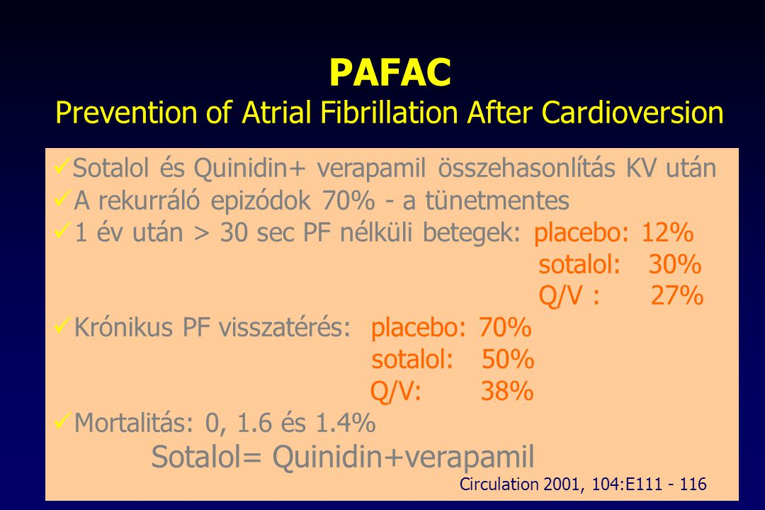 PAFAC Prevention of Atrial Fibrillation After Cardioversion