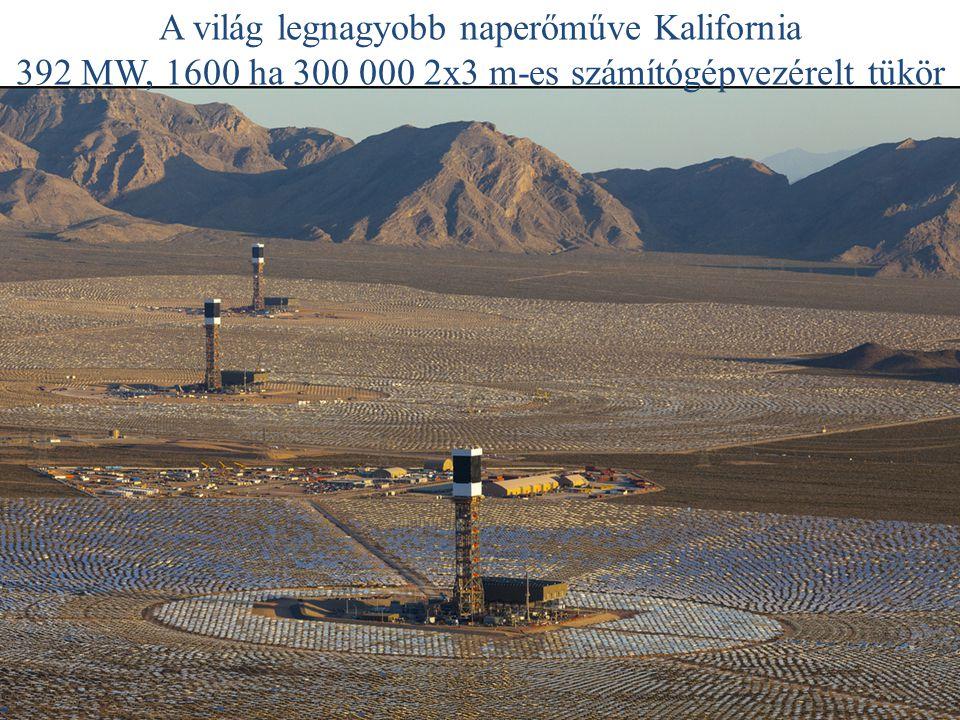 A világ legnagyobb naperőműve Kalifornia