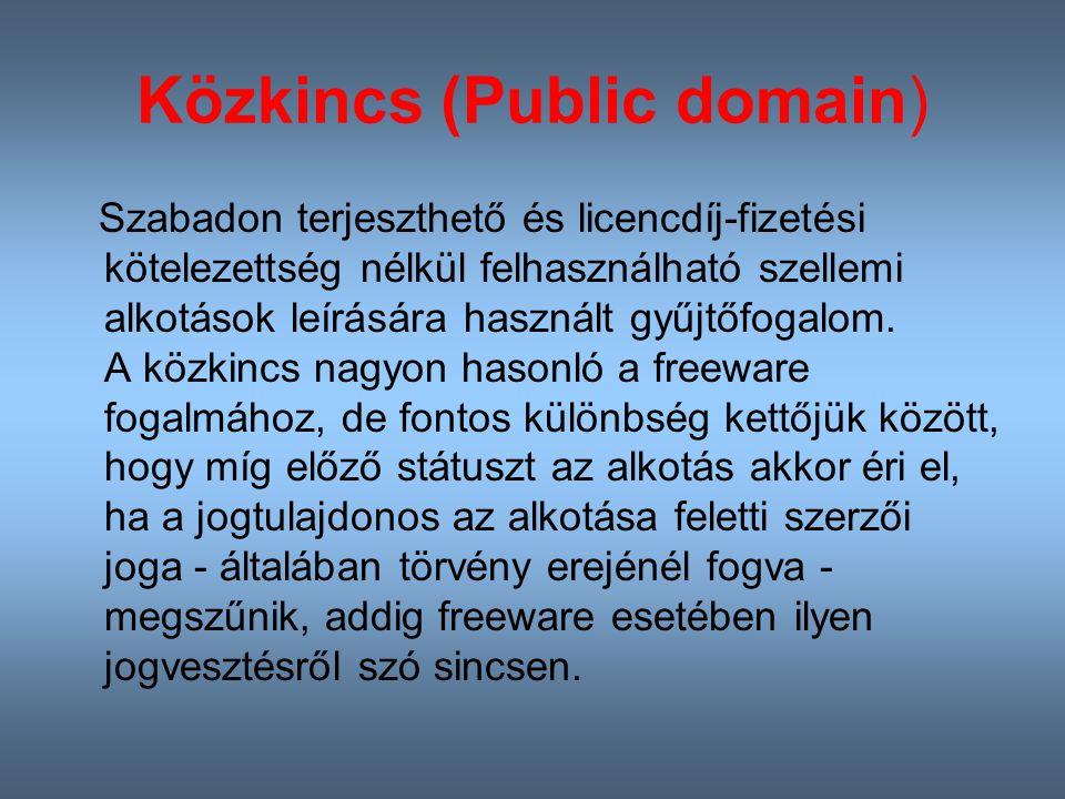 Közkincs (Public domain)