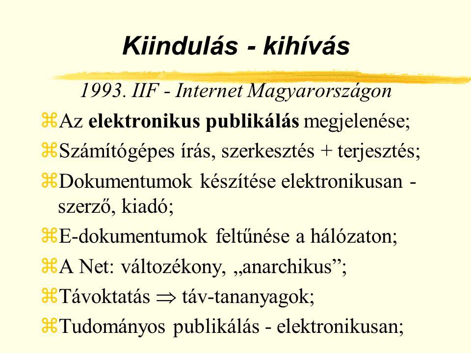 1993. IIF - Internet Magyarországon