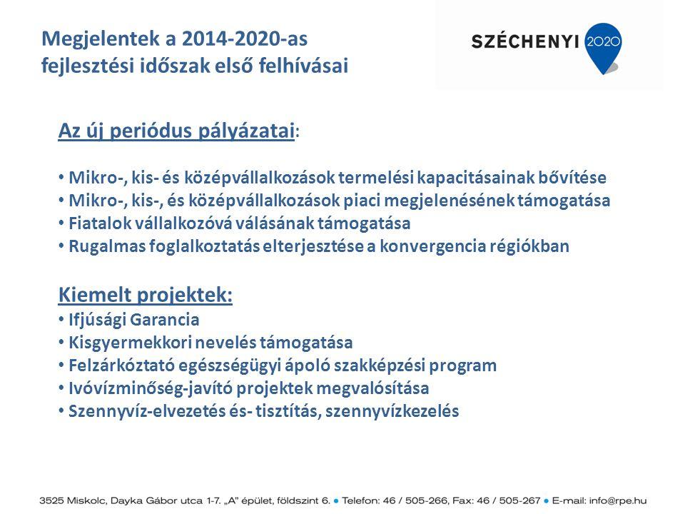 Megjelentek a 2014-2020-as fejlesztési időszak első felhívásai