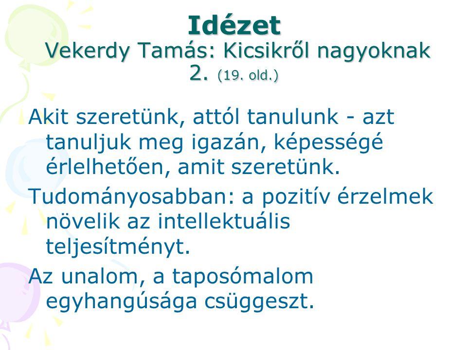 Idézet Vekerdy Tamás: Kicsikről nagyoknak 2. (19. old.)