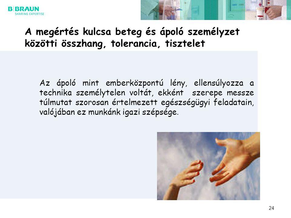 A megértés kulcsa beteg és ápoló személyzet közötti összhang, tolerancia, tisztelet