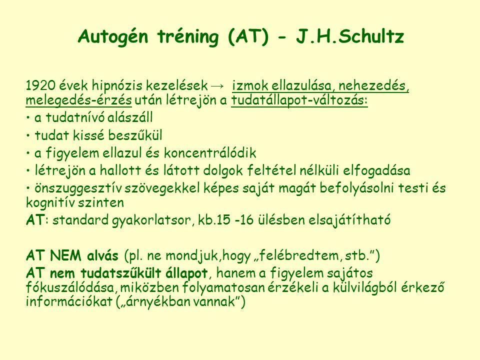 Autogén tréning (AT) - J.H.Schultz