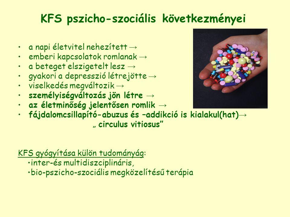KFS pszicho-szociális következményei