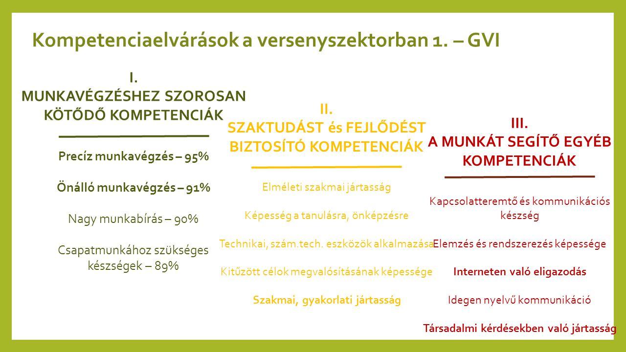 Kompetenciaelvárások a versenyszektorban 1. – GVI