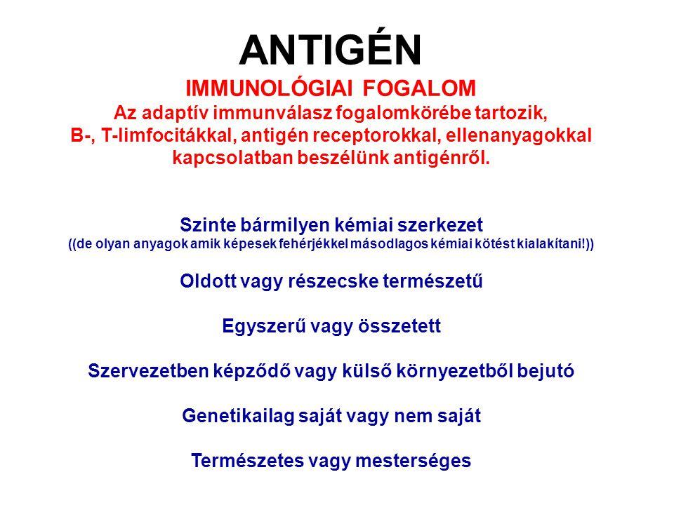 ANTIGÉN IMMUNOLÓGIAI FOGALOM