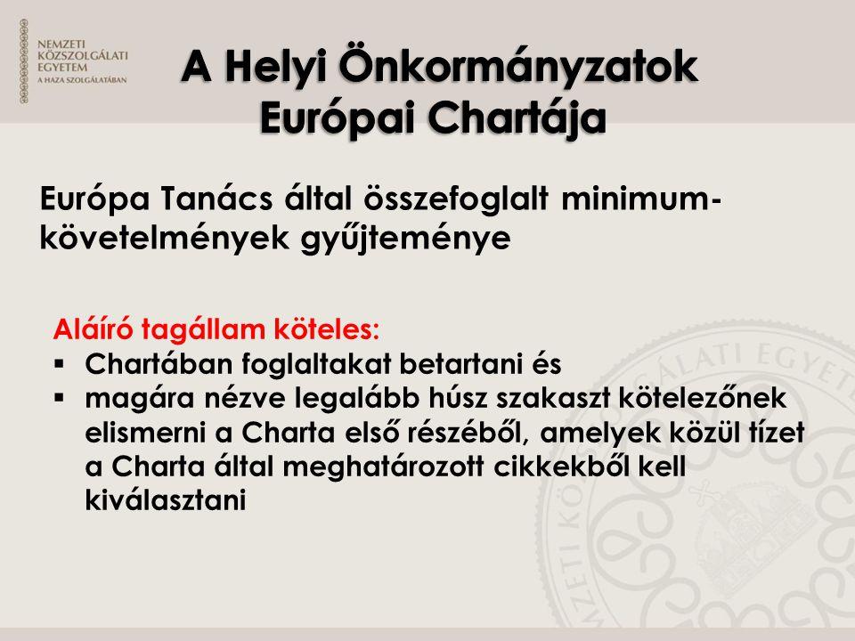 A Helyi Önkormányzatok Európai Chartája