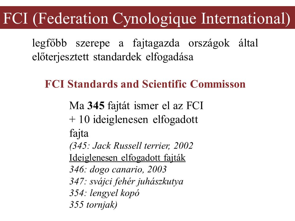 FCI Standards and Scientific Commisson