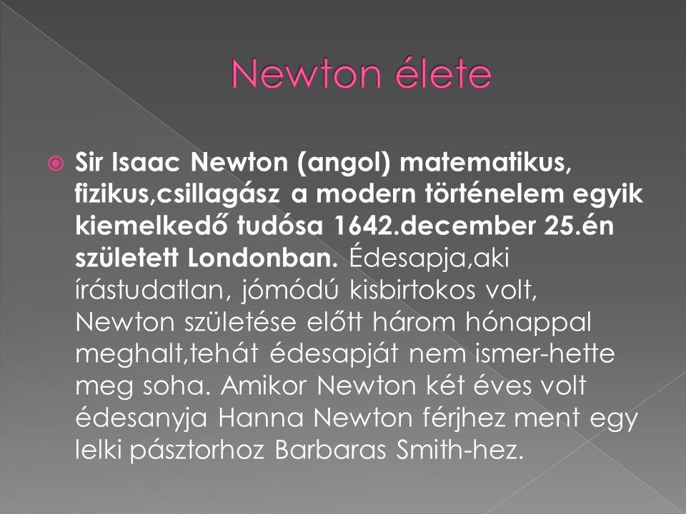 Newton élete