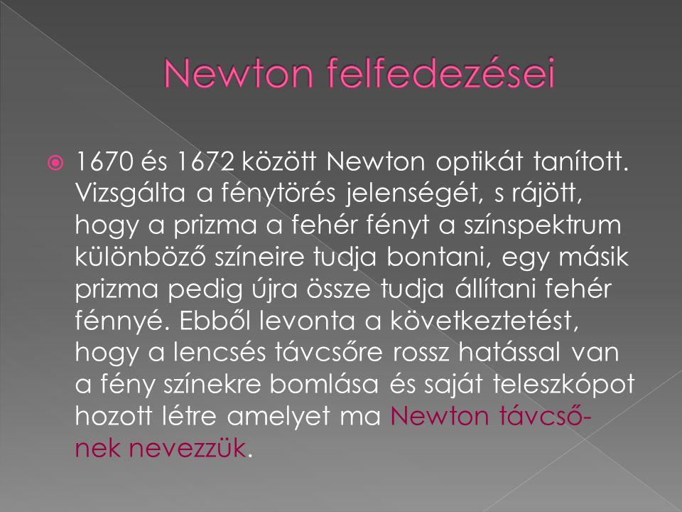 Newton felfedezései
