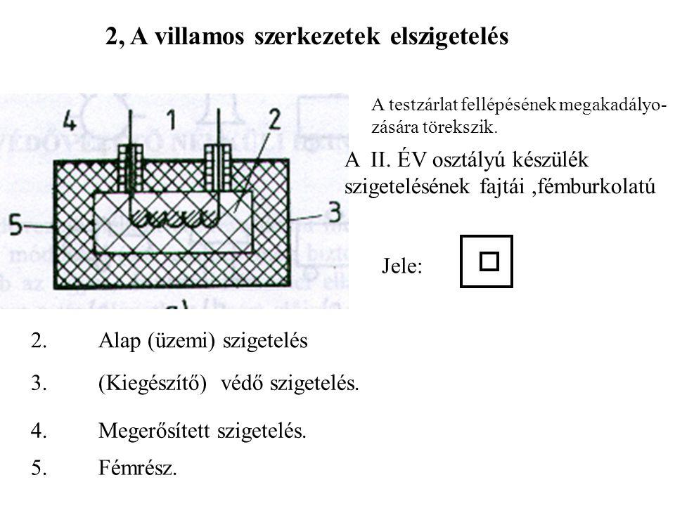 2, A villamos szerkezetek elszigetelés
