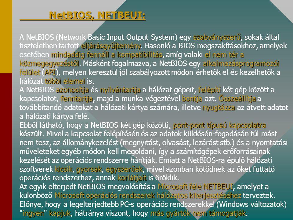 NetBIOS, NETBEUI: