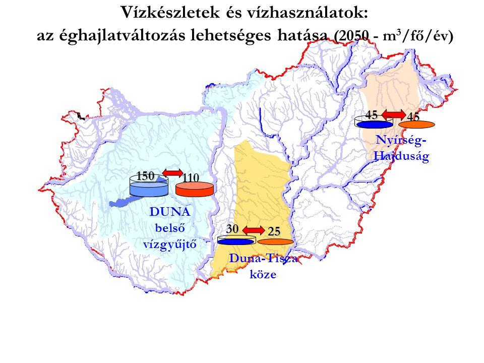 Vízkészletek és vízhasználatok: