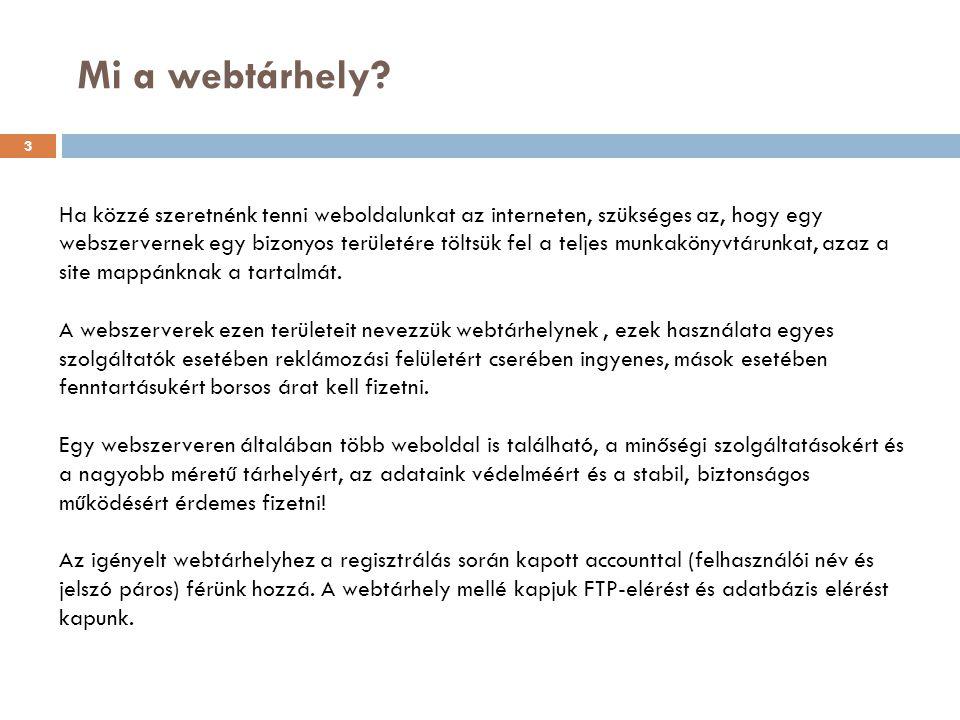 Mi a webtárhely