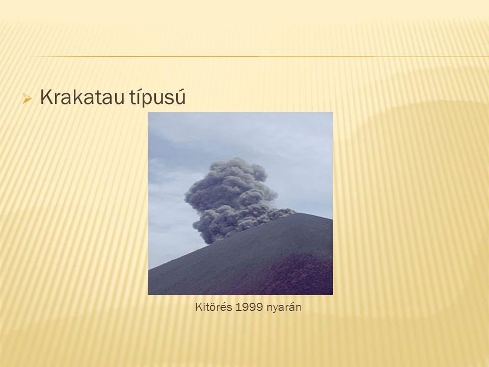 Krakatau típusú Kitörés 1999 nyarán