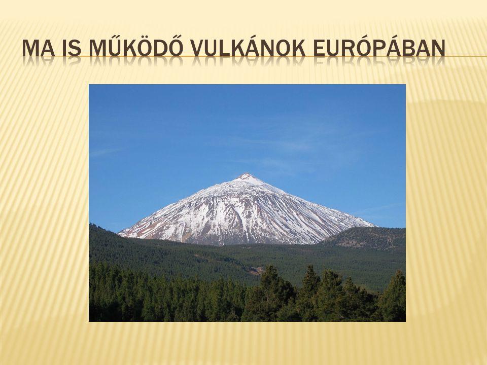 Ma is működő vulkánok Európában