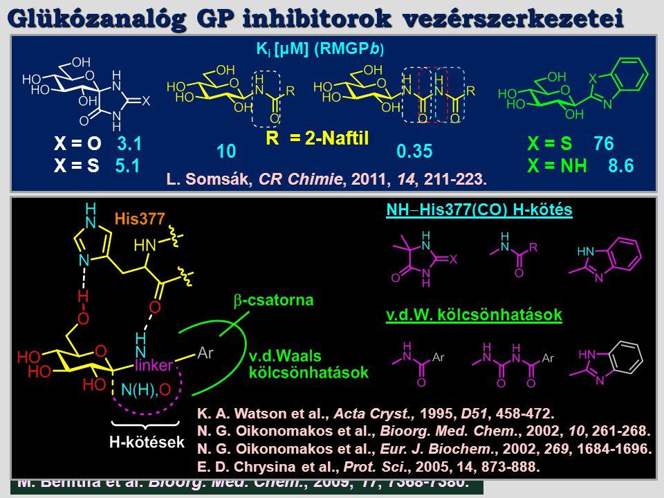 Glükózanalóg GP inhibitorok vezérszerkezetei