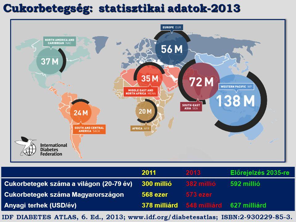 Cukorbetegség: statisztikai adatok-2013