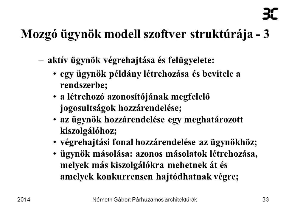 Mozgó ügynök modell szoftver struktúrája - 3